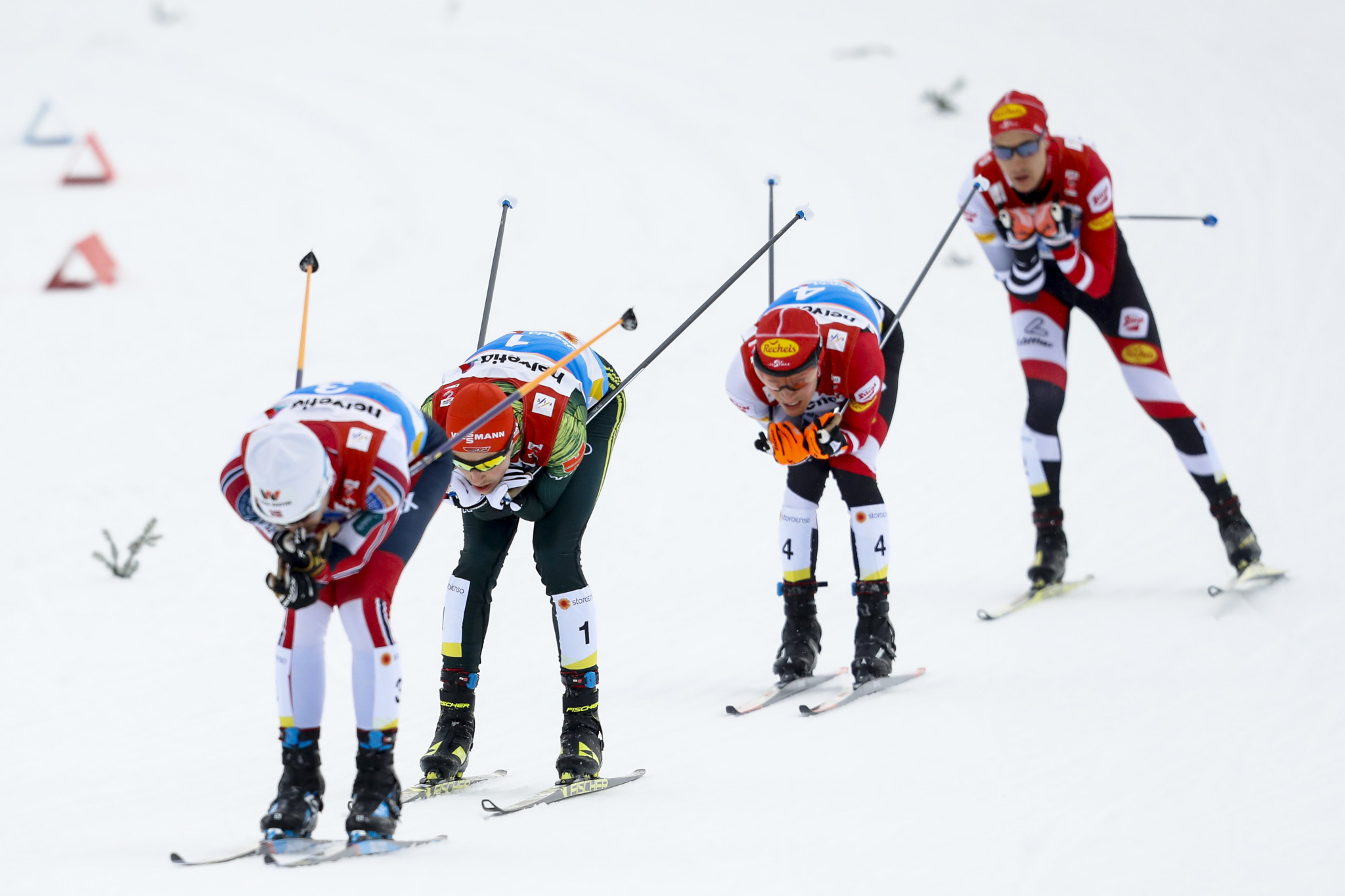 Frenzel's time in the final race was enough to give him his sixth Nordic combined world title ©Getty Images