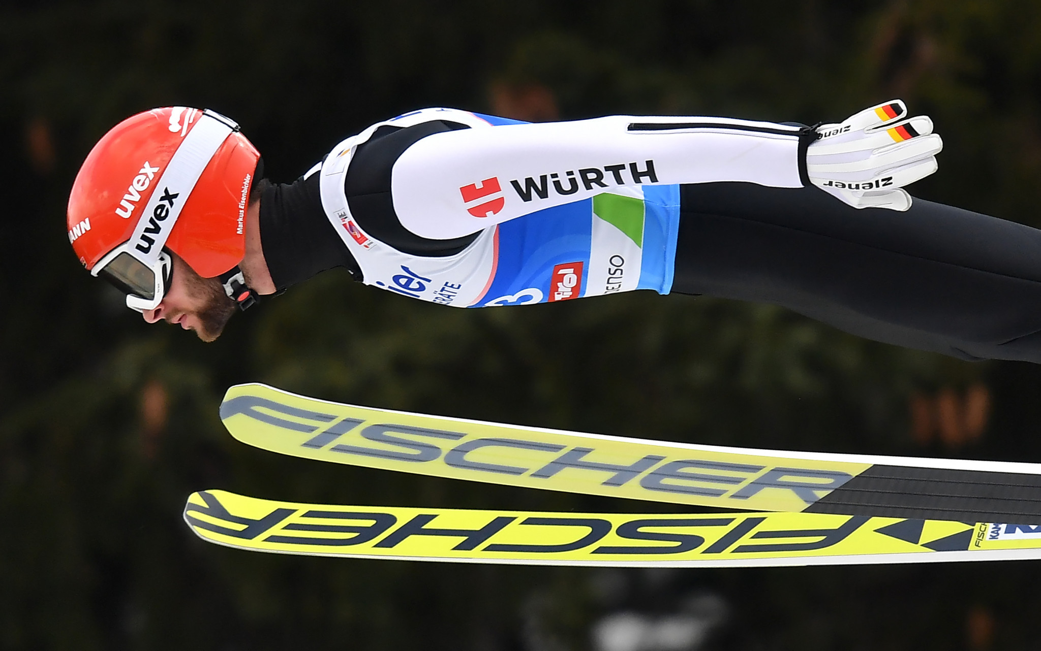 Markus Eisenbichler of Germany topped the ski jumping qualification event ©Getty Images