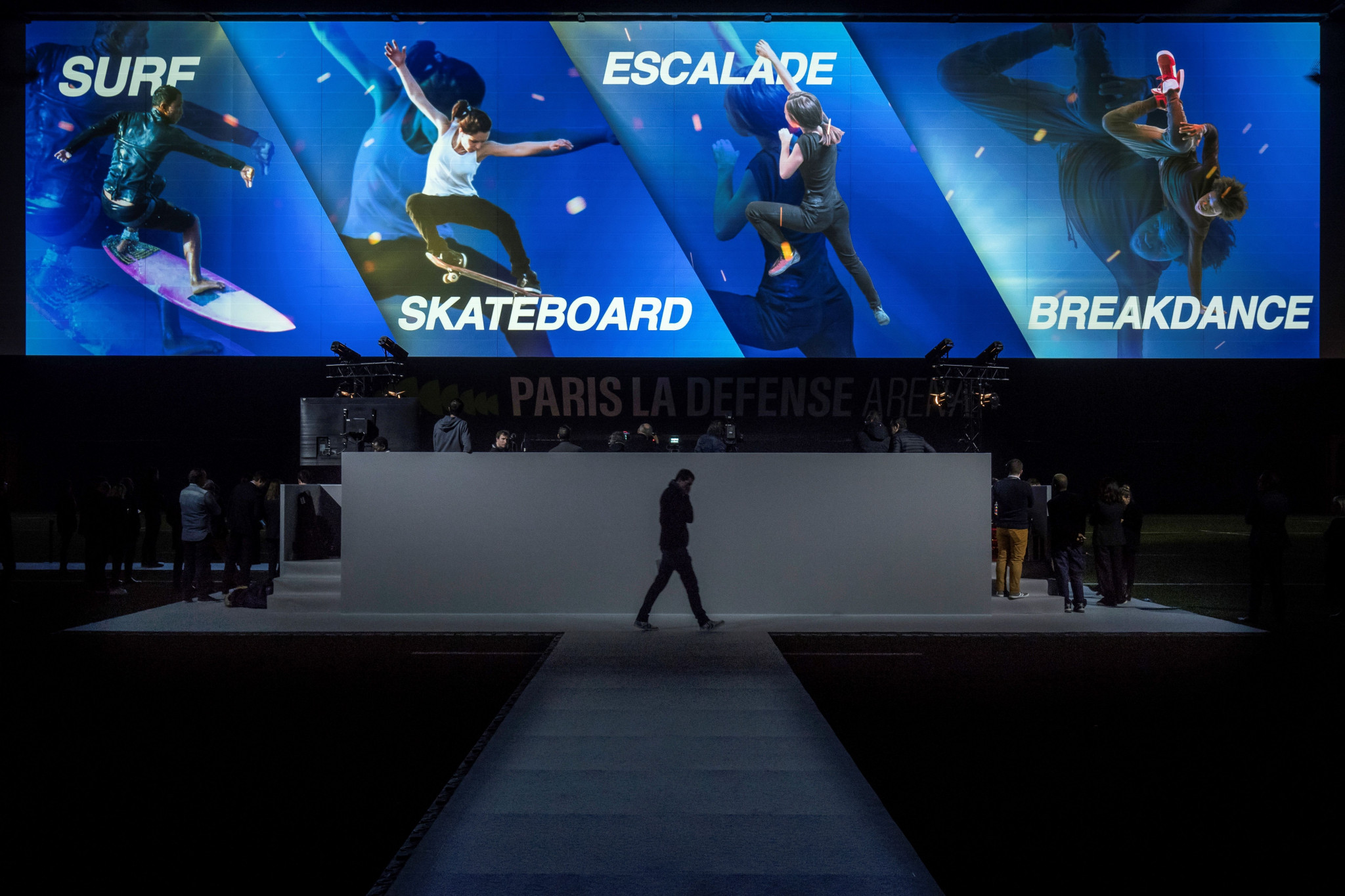 Paris 2024 President Tony Estanguet proposed to add breakdancing, sport climbing, skateboarding and surfing to the Olympic programme ©Getty Images