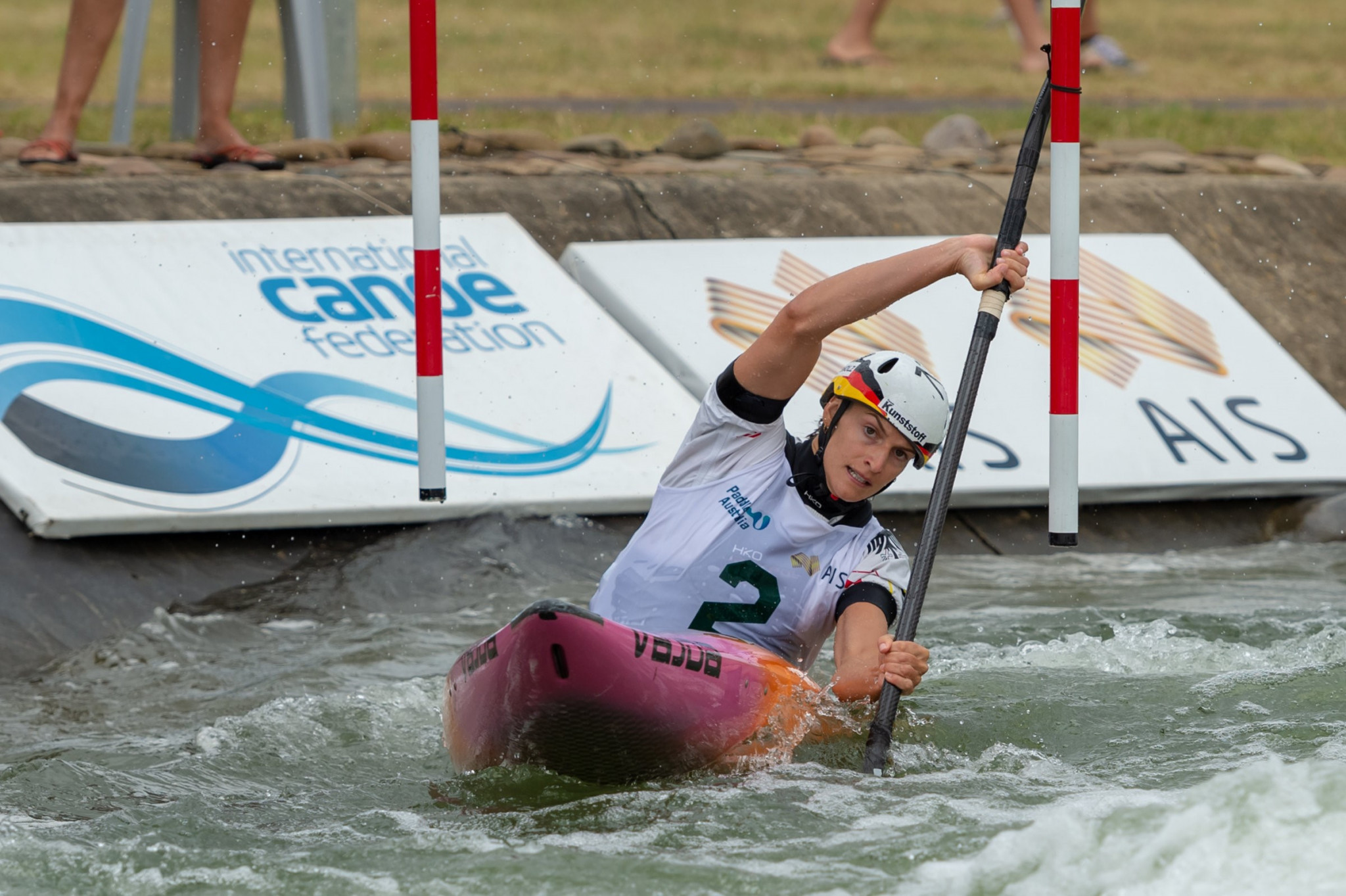 Funk and Anton earn victories at Oceania Canoe Slalom Championships