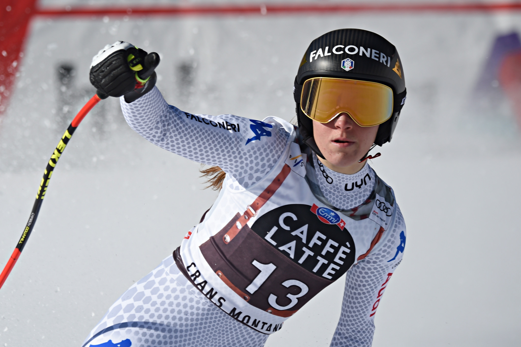 Sofia Goggia triumphed in the downhill event at Crans-Montana ©Getty Images