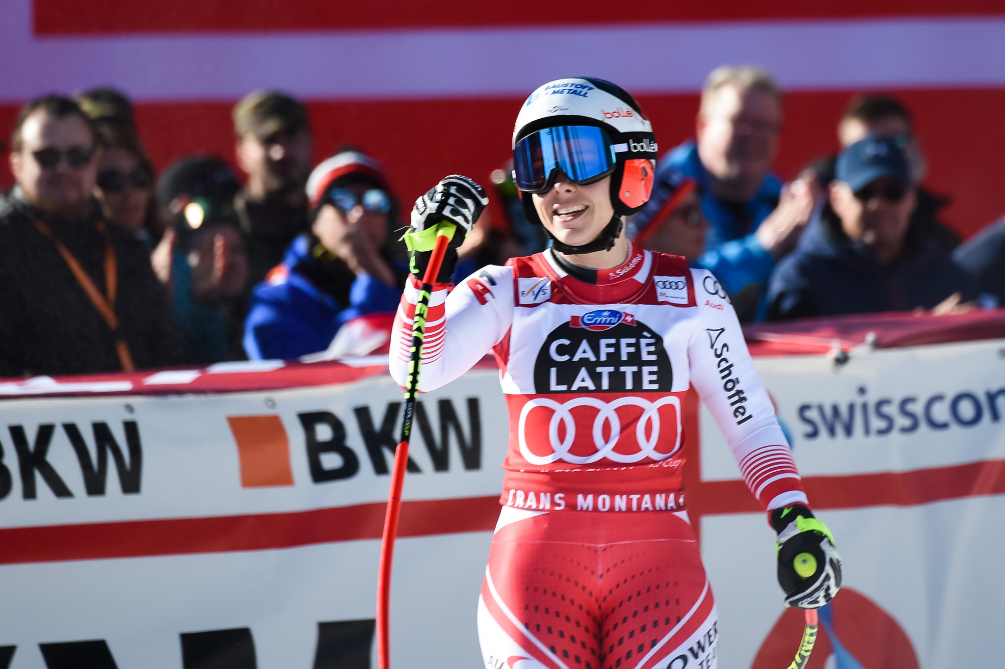Nicole Schmidhofer missed out on a podium finish after a timing issue saw the result changed ©Getty Images