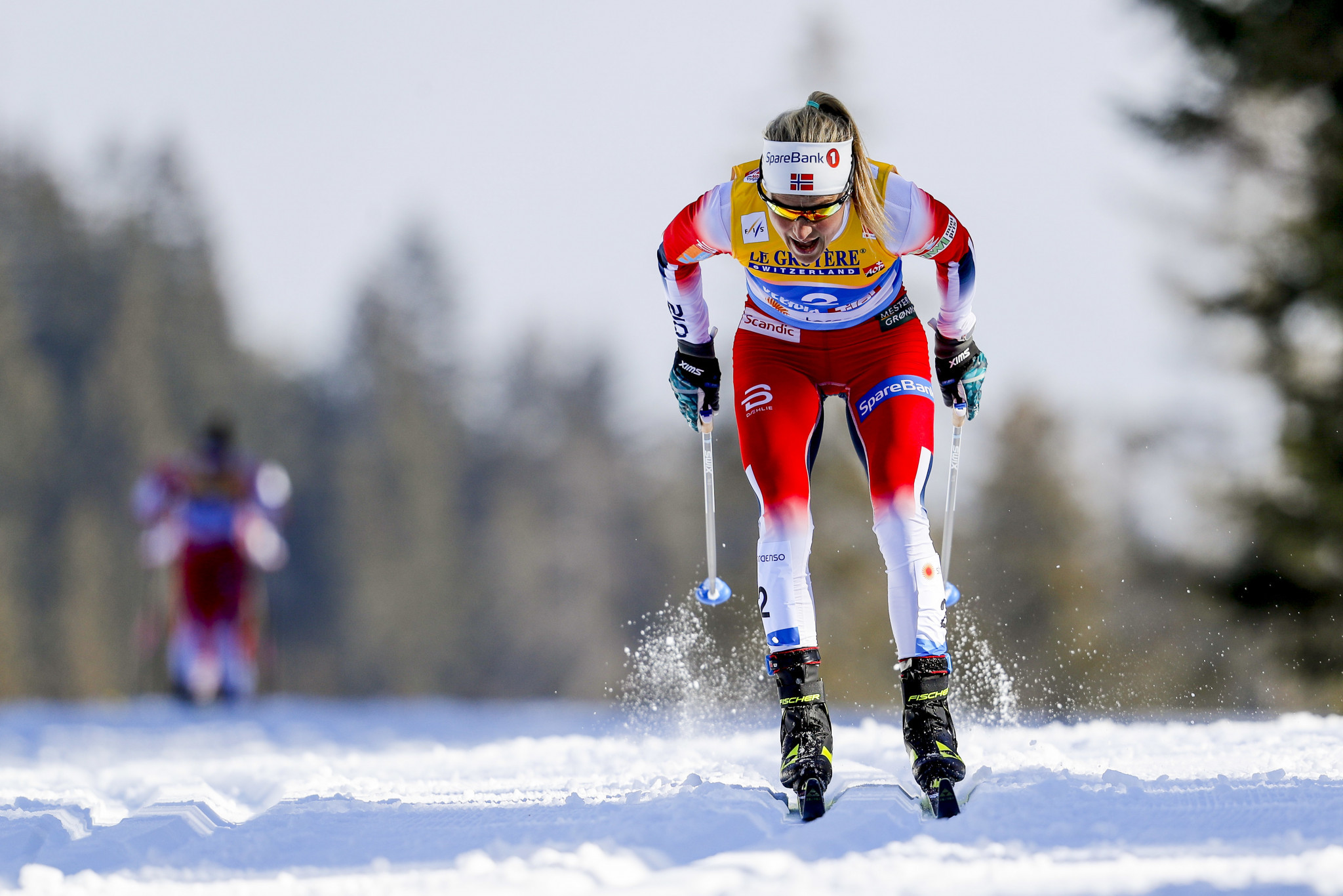 Therese Johaug claimed her first world title since returning from her doping ban ©Getty Images