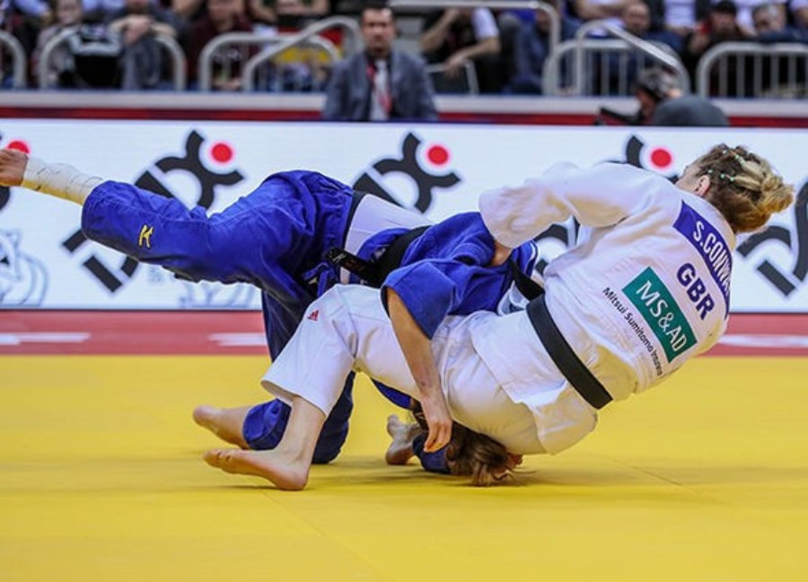 Britain's Sally Conway clinched victory in the women's under-70kg division ©IJF