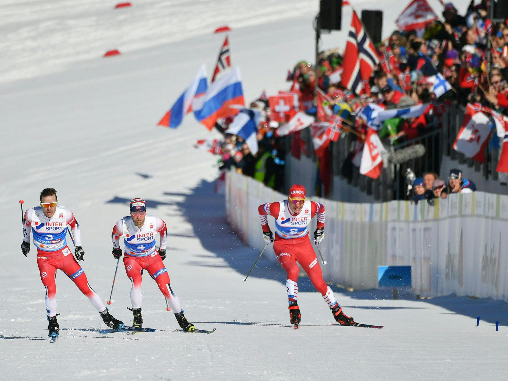 A closely contested men's 30km skiathlon competition took place ©Getty Images