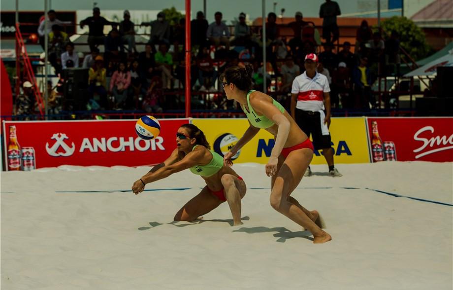 Greece's Panagiota Karagkouni and Vasiliki Arvaniti won the FIVB Beach World Tour event in Phnom Penh ©FIVB