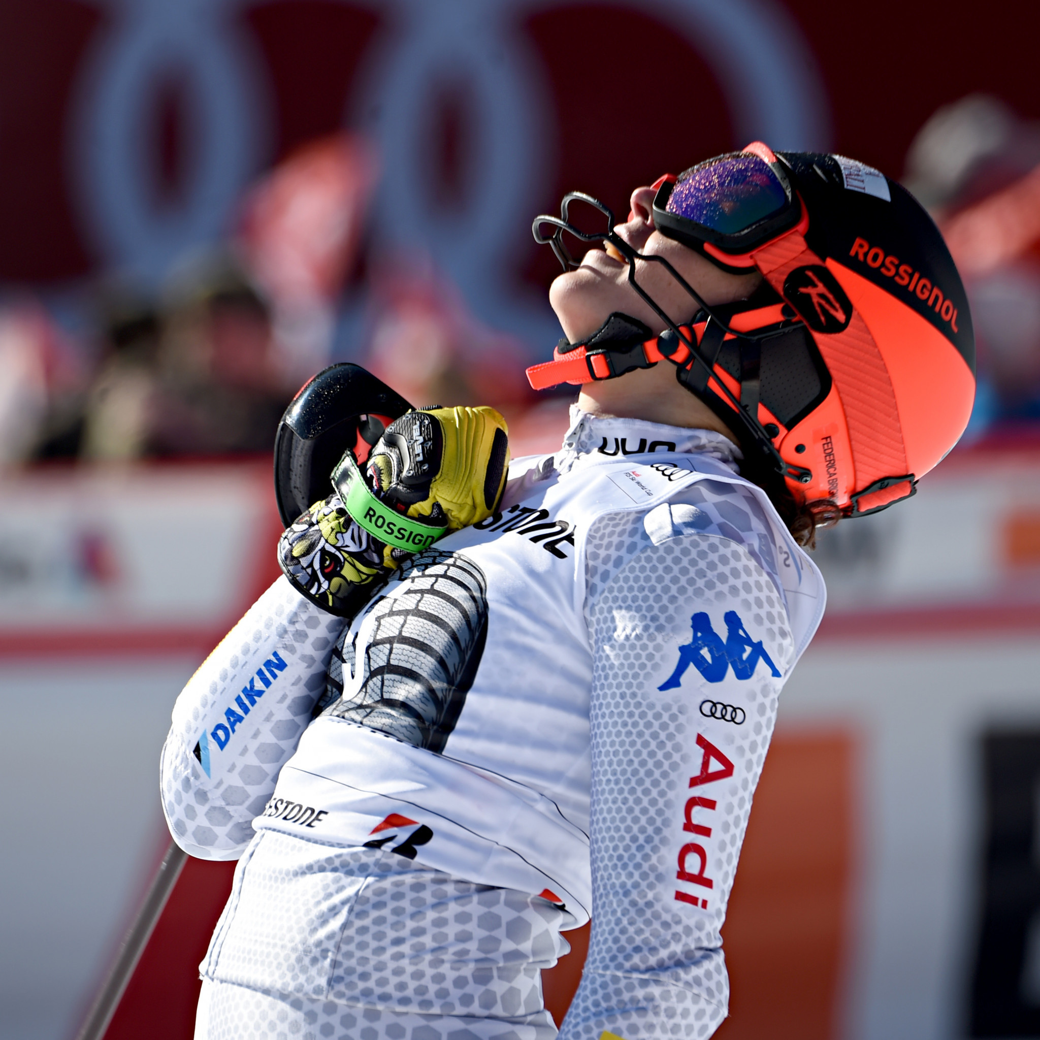 Federica Brignone won the Alpine combined in Crans-Montana for the third year in a row ©Getty Images