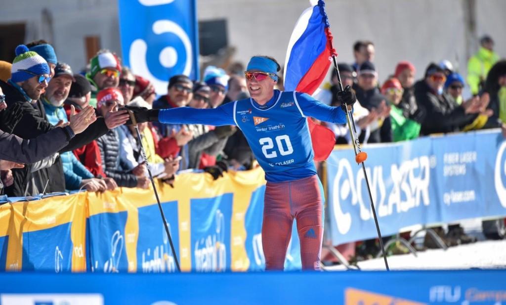 Russia win 2x2 mixed relay at ETU Winter Triathlon European Championships