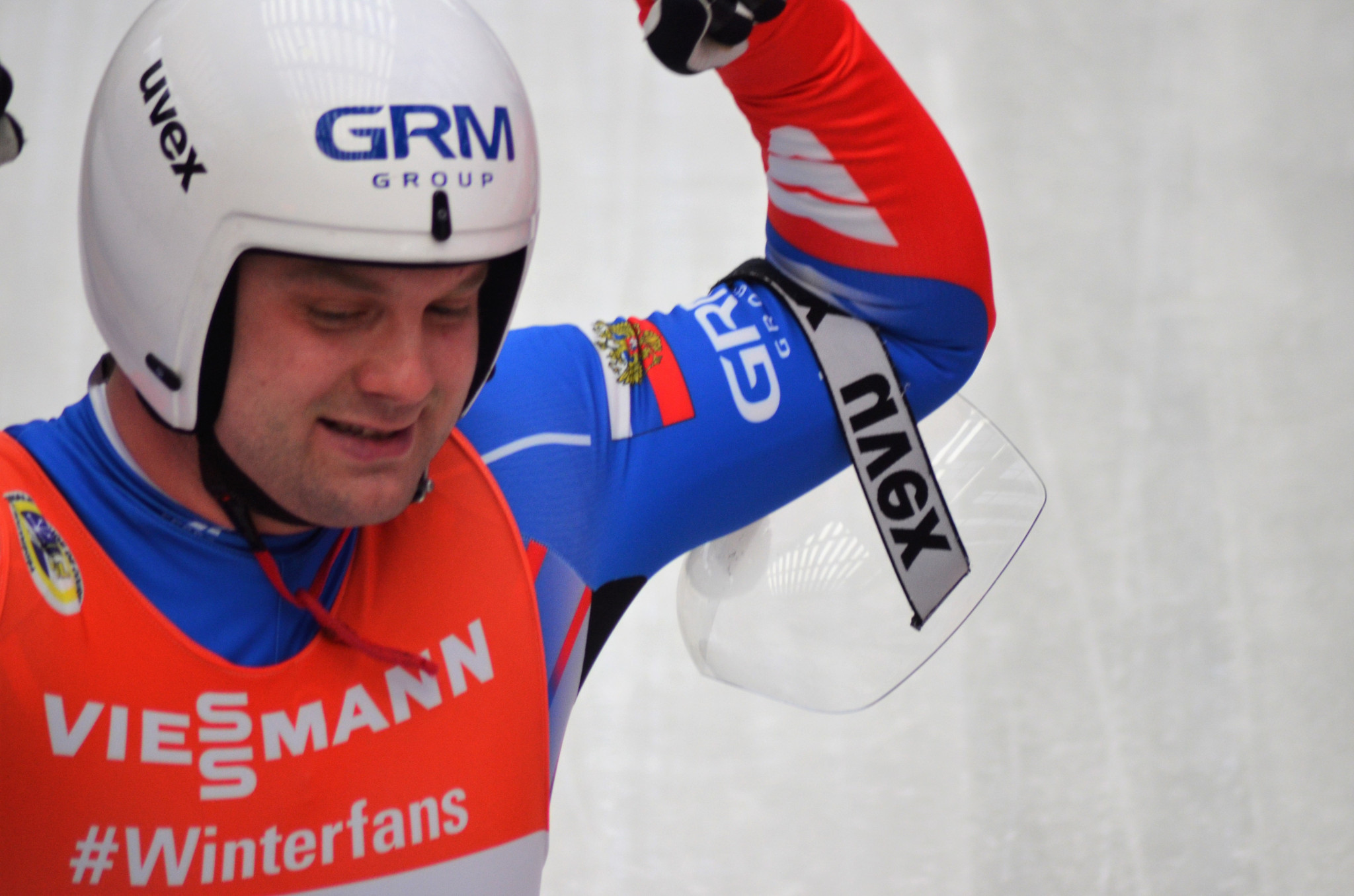 Russia's Semen Pavlichenko won twice in Sochi to be named the men's overall FIL Luge World Cup winner ©FIL