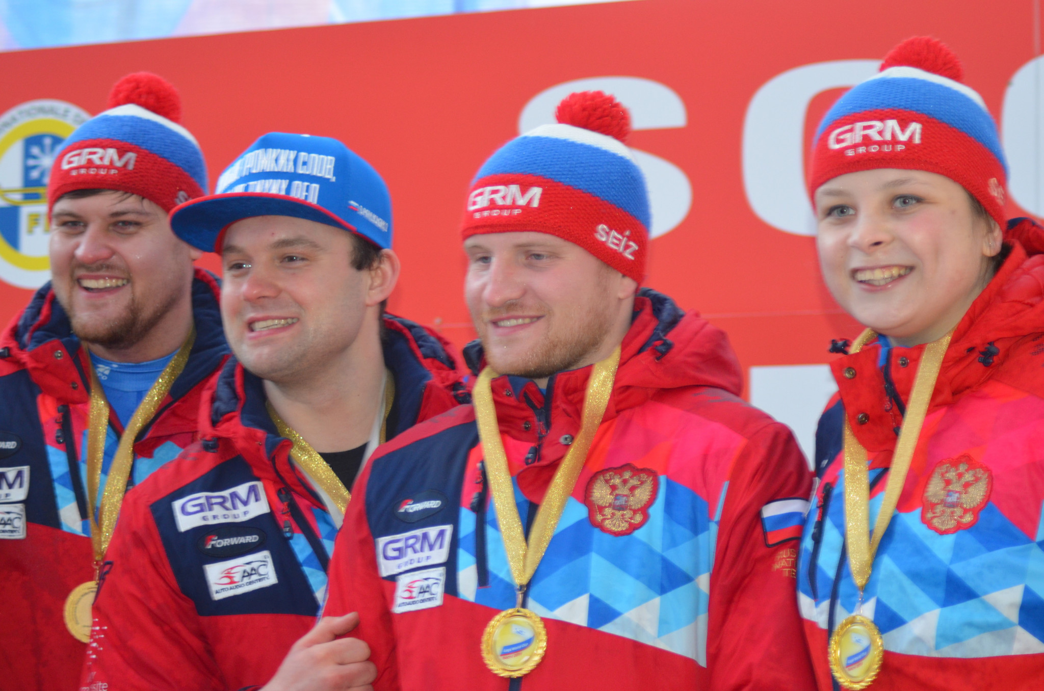 The Russian relay team won in Sochi, finishing second in the overall World Cup standings ©FIL