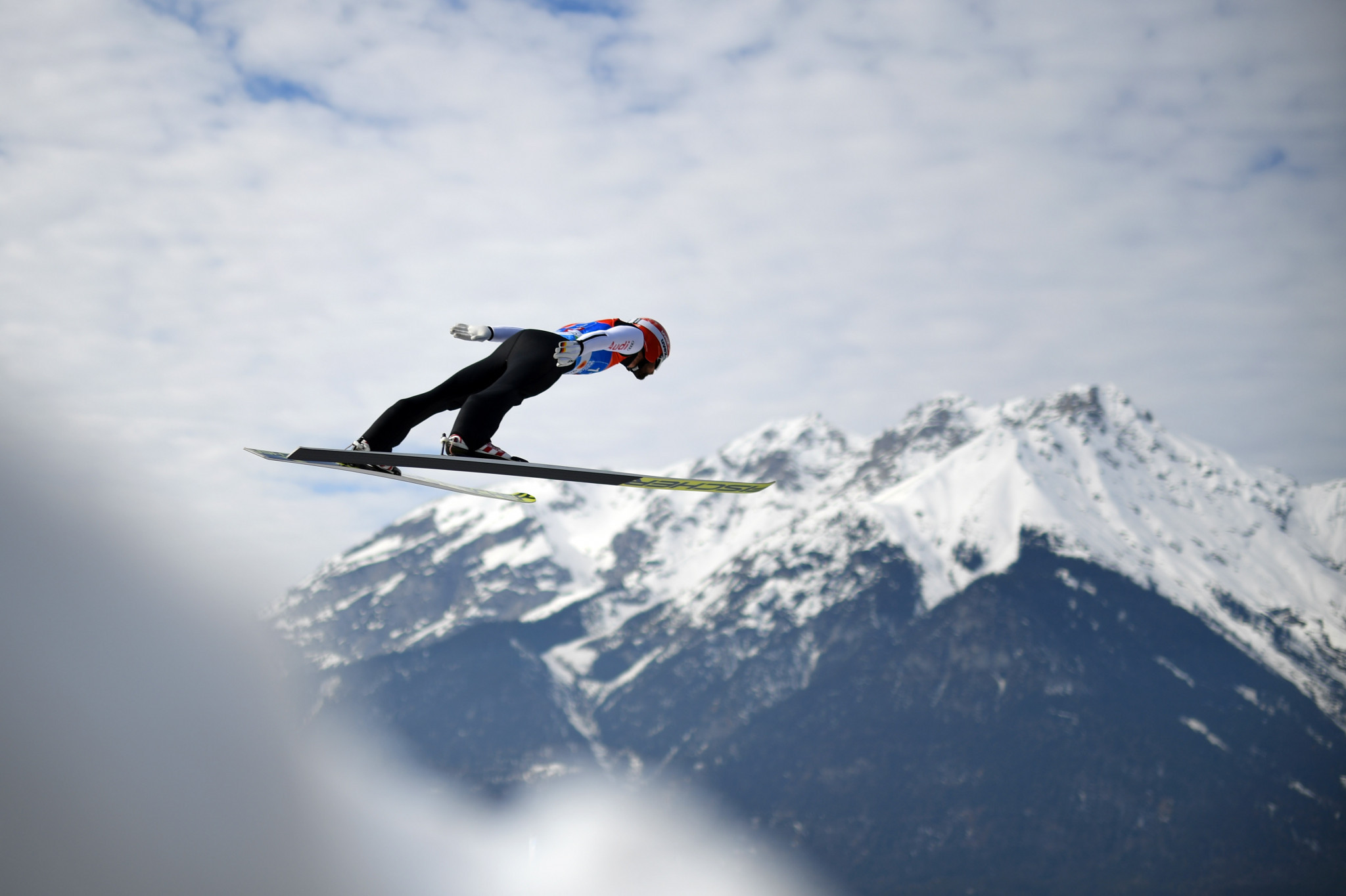 Newly crowned large hill world champion Markus Eisenbichler was in ski jumping action again ©Getty Images