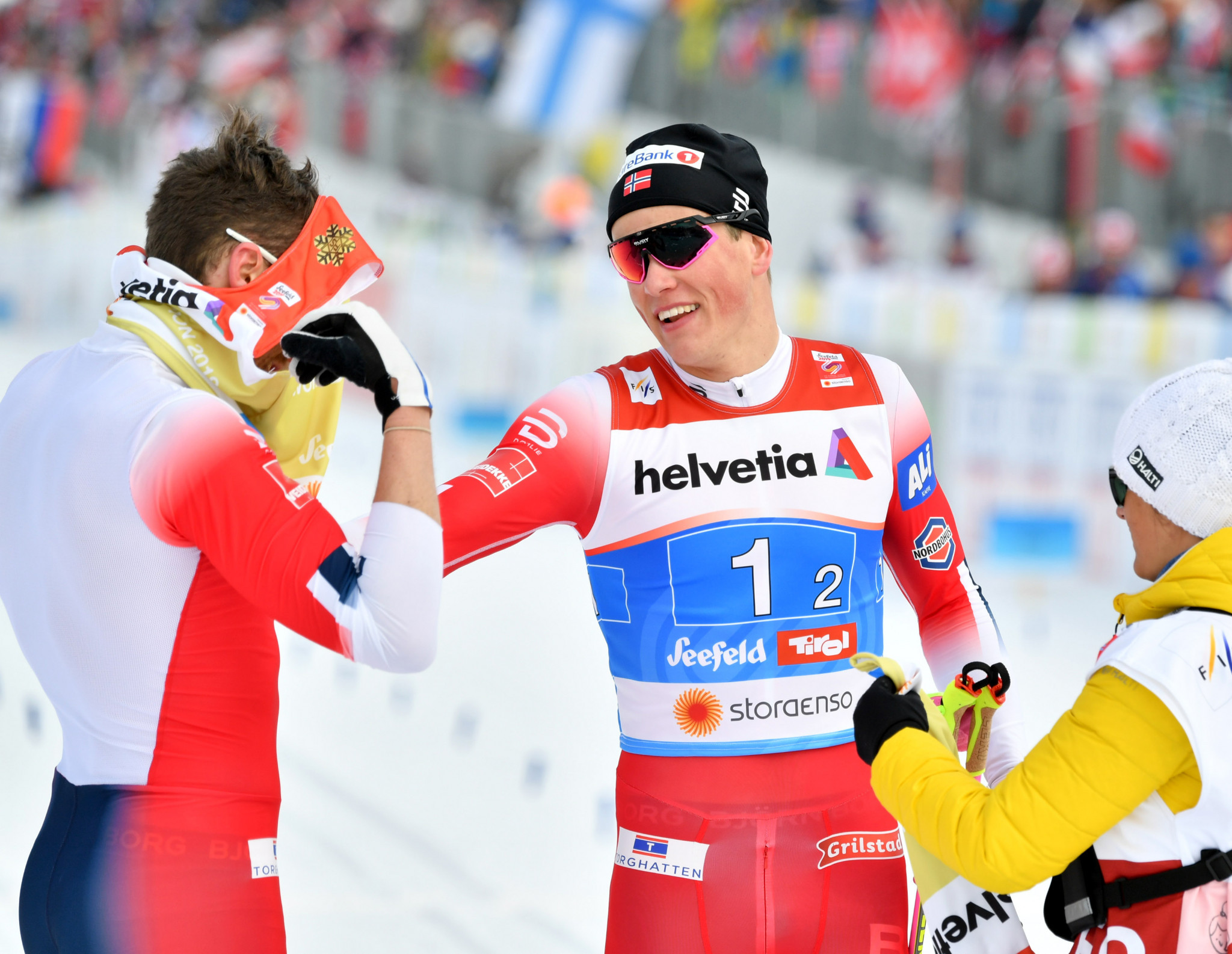 Emil Iversen and Johannes Hoesflot Klaebo emerged as the winners ©Getty Images