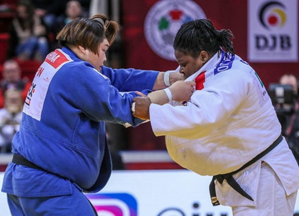 Cuba's Idalys Ortiz, right, triumphed in the women's over-78kg event ©IJF