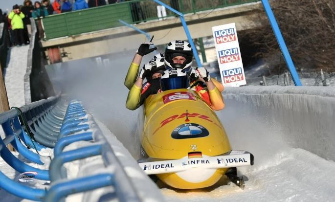 Germany's Francesco Friedrich won the overall four-man bobsleigh title with victory at the IBSF World Cup in Calgary ©IBSF