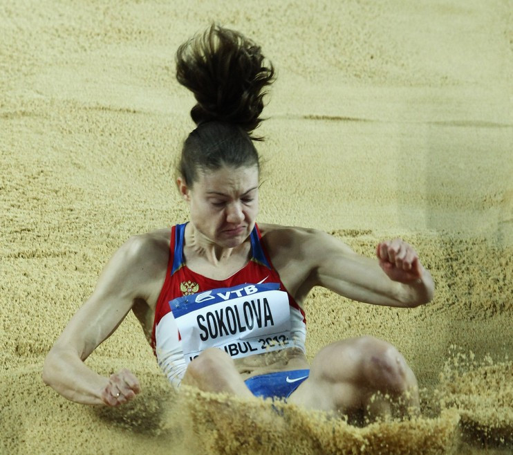 Olympic long jump silver medallist Yelena Sokolova is among a further 21 Russians given permission to compete as neutrals this year ©Getty Images