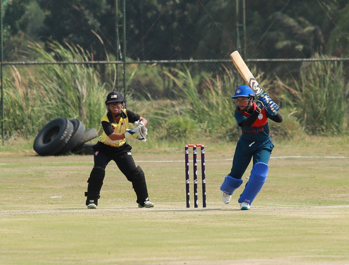 Thailand beat Malaysia to stay in top spot at the ICC Women's Qualifier Asia in Bangkok ©Twitter
