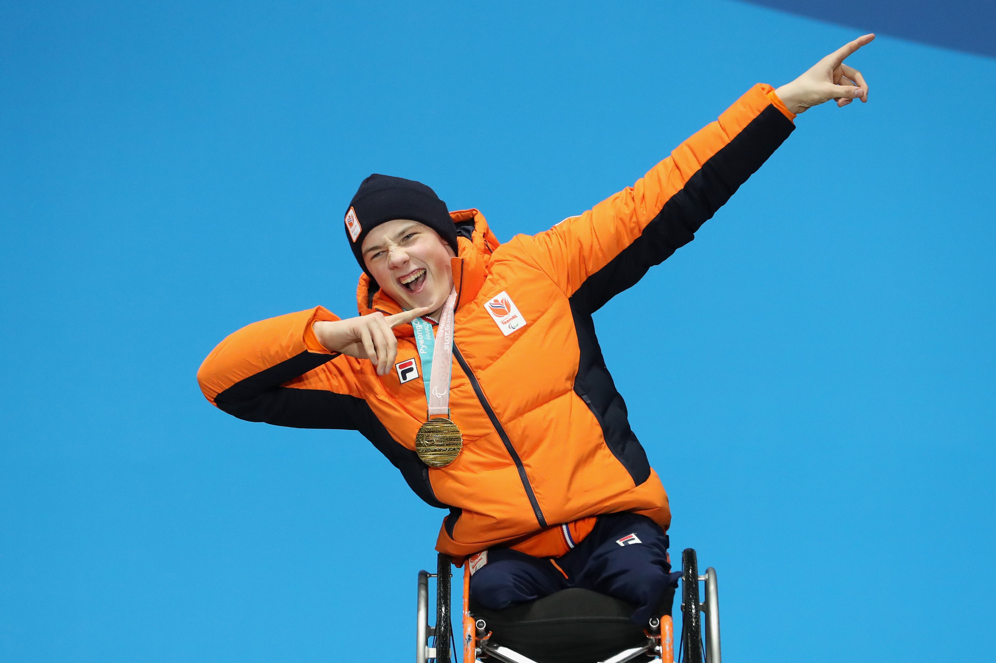 Dutch skier Jeroen Kampschreur has been named as the IPC's Allianz Athlete of the Month for January ©Getty Images