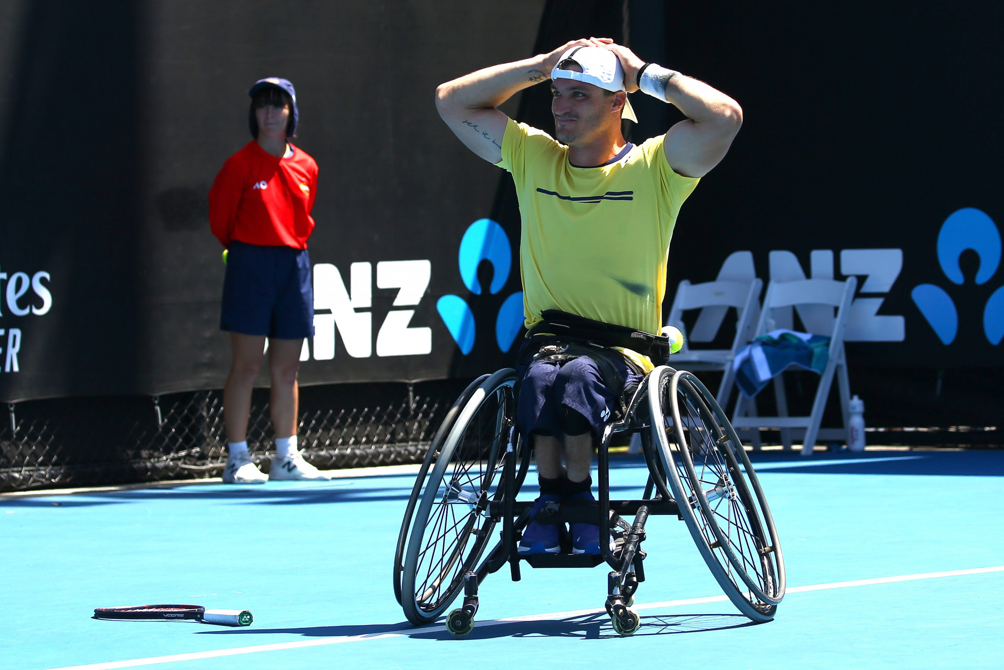 Argentina's wheelchair tennis player Gustavo Fernandez came second in the public vote ©Getty Images