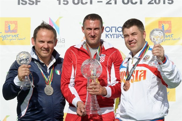 Croatian Olympic champion wins trap title on last day of ISSF World Cup final