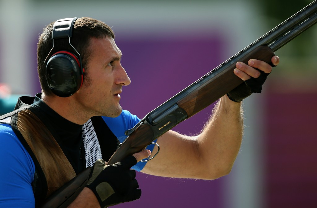 Giovanni Cernogoraz could only finish fourth in the men's trap despite topping qualification ©Getty Images