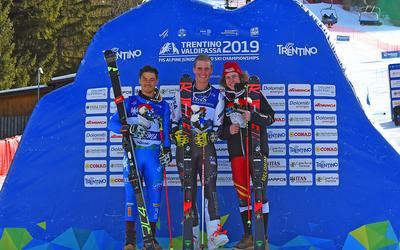American River Radamus further cemented his status as a star of the future as he claimed his second gold medal at this year's FIS World Junior Alpine Skiing Championships in Val di Fassa ©Val di Fassa 2019