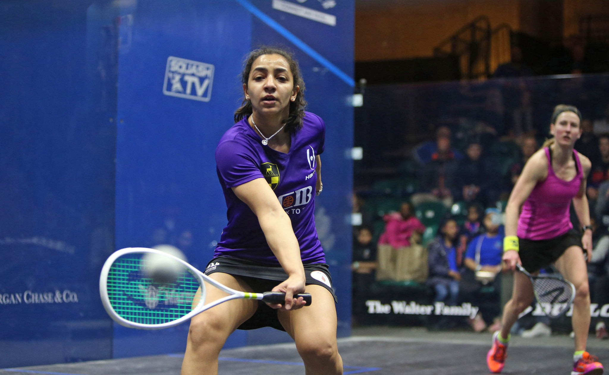 Raneem El Welily continued her serene progress with a comfortable last-16 victory ©PSA