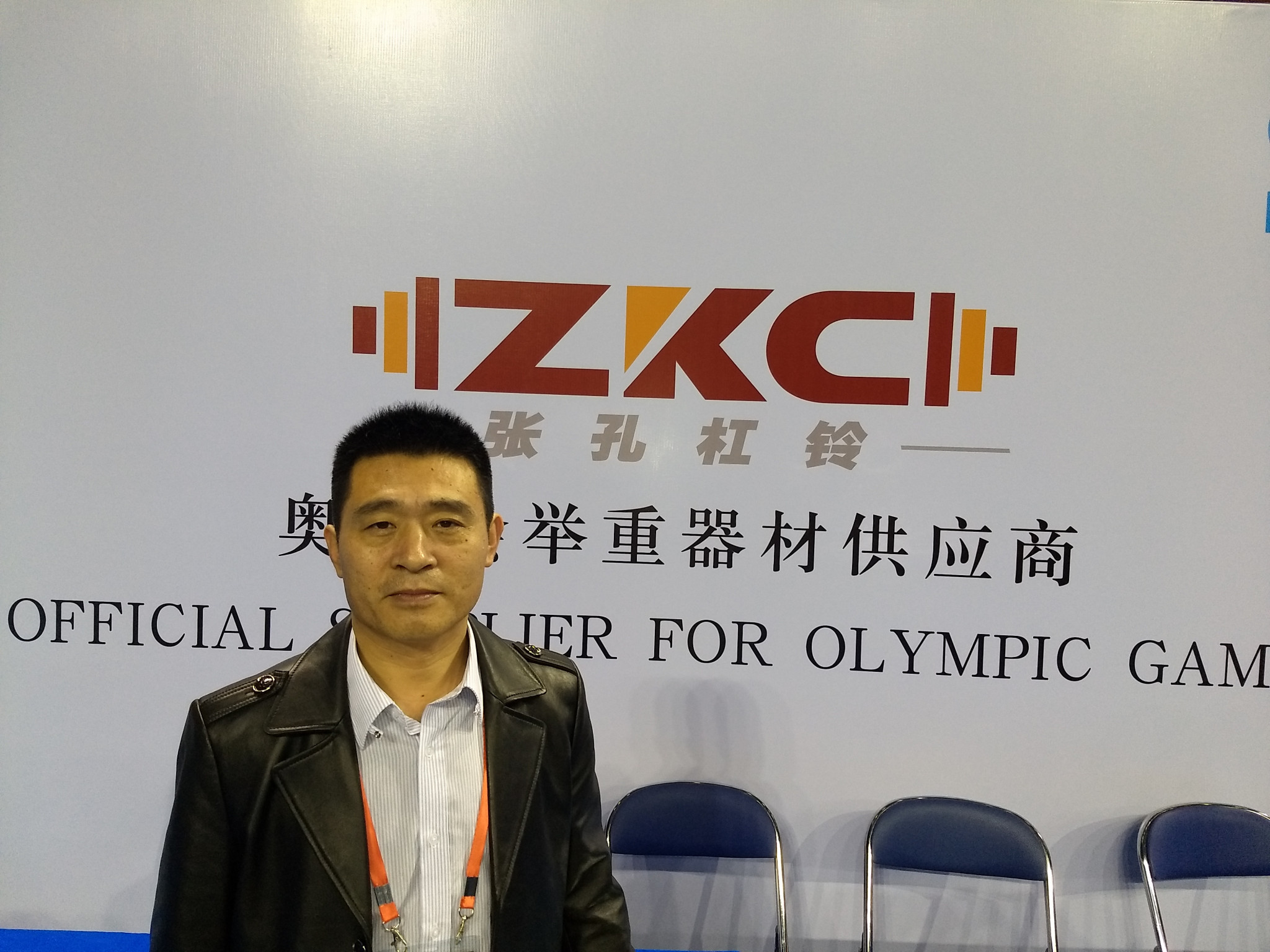 Zhang Zhigou, chairman of ZKC, the company which has designed new discs for Tokyo 2020 ©Brian Oliver/ITG