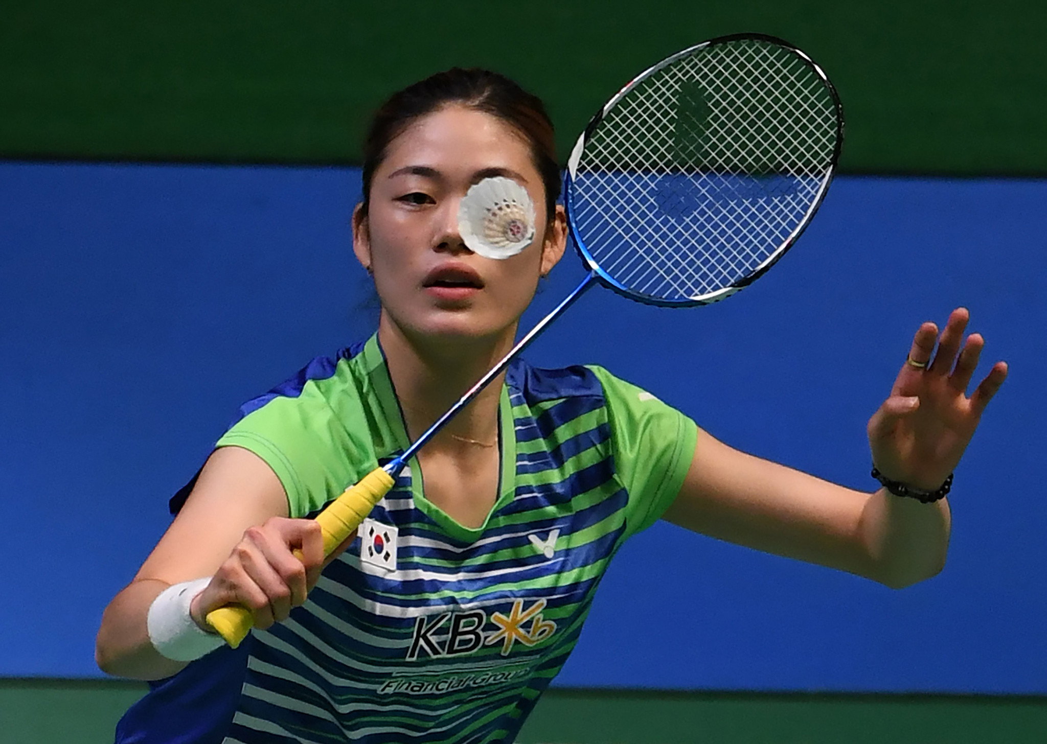 Hyo Min Kim advanced through women's singles qualifying with a relatively comfortable straight games victory ©Getty Images