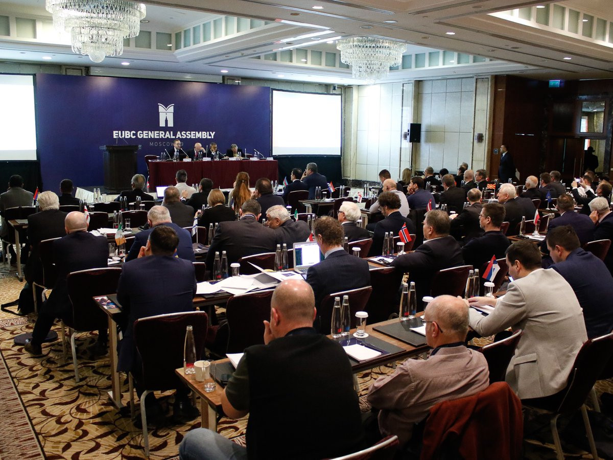 EUBC President Franco Falcinelli chaired a fractious General Assembly in Moscow last week ©EUBC
