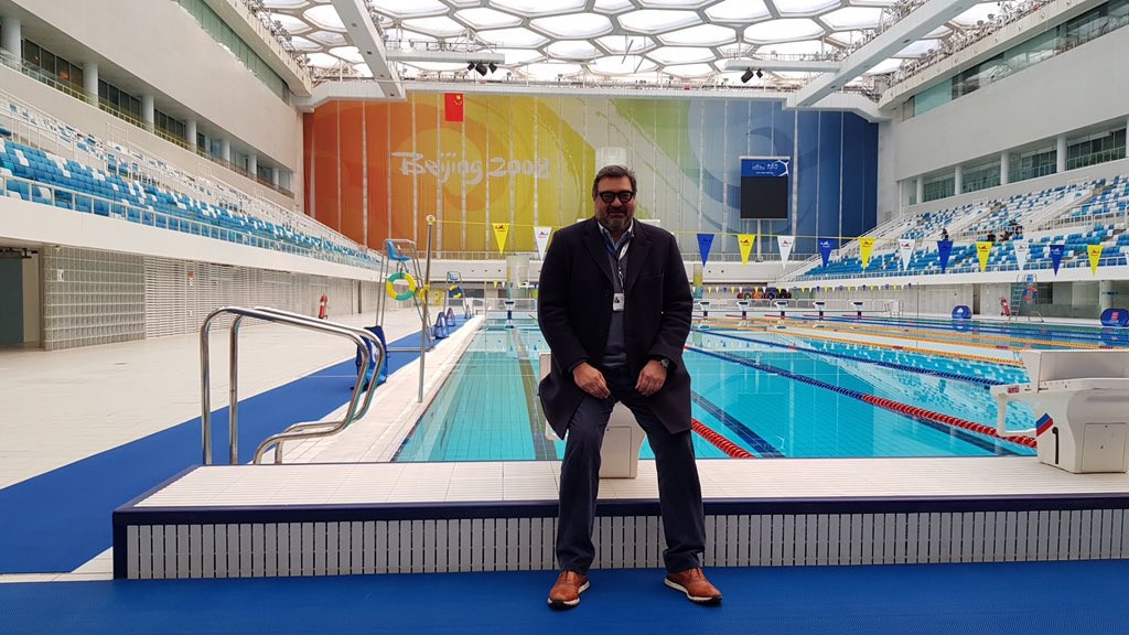 Yiannis Exarchos spent three years in Beijing overseeing broadcast arrangements for the 2008 Olympics ©Twitter