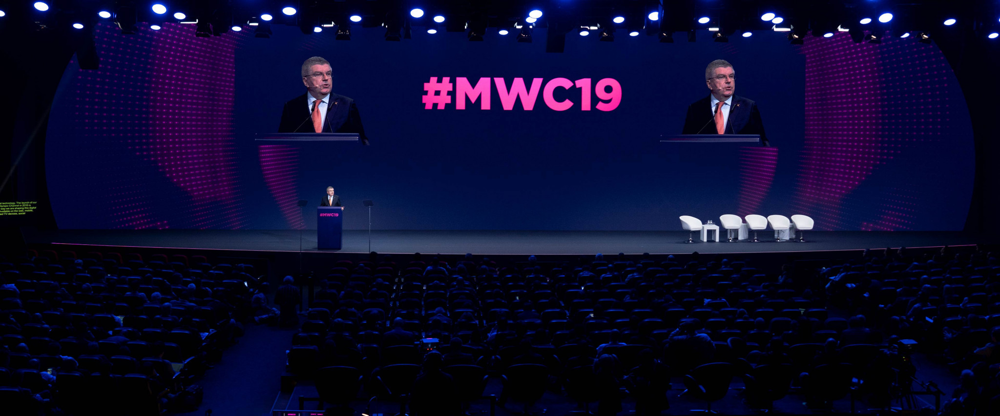 IOC President Bach has stressed the importance of 5G technology to the future of the Olympics ©IOC