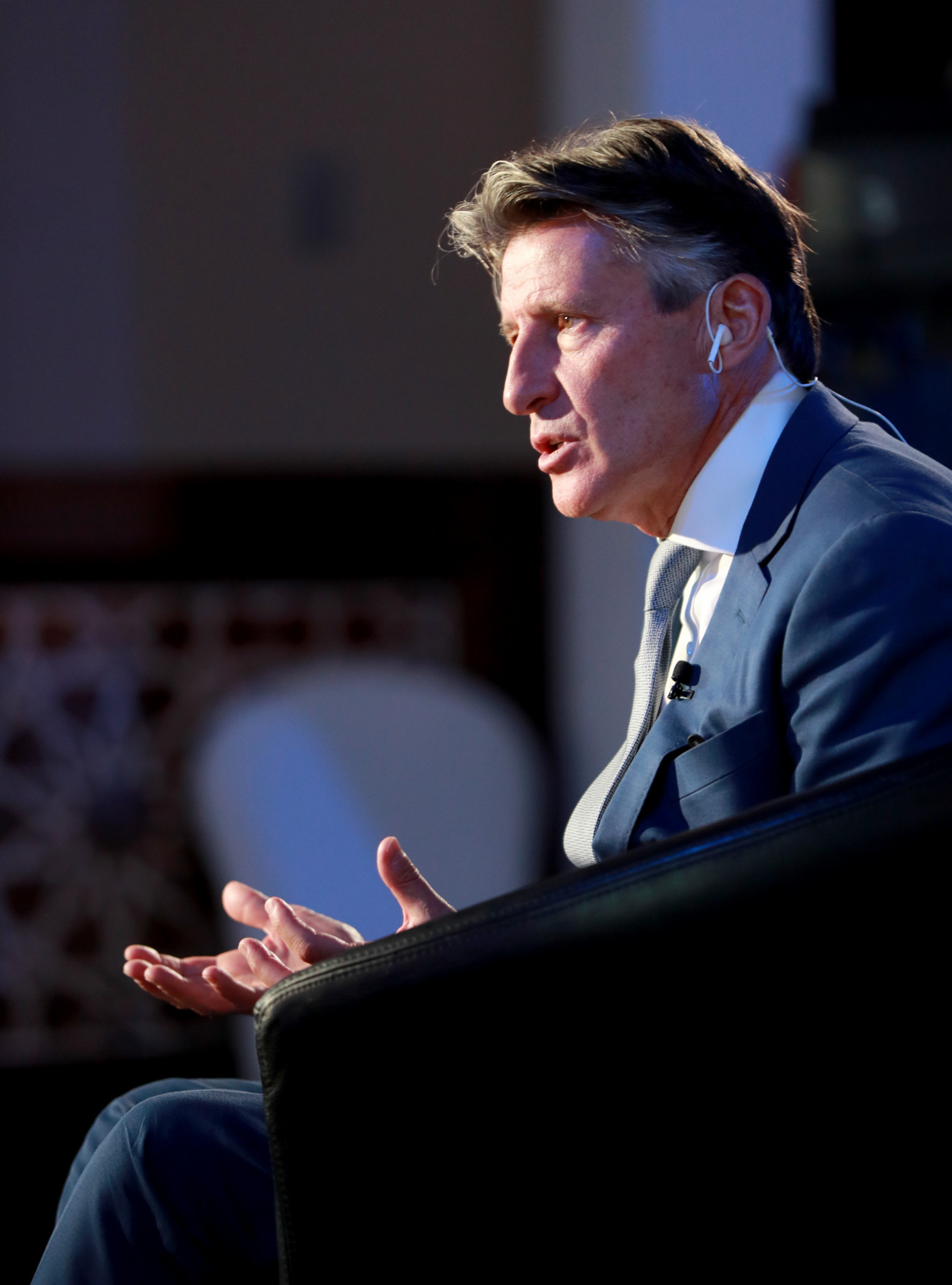 IAAF President Sebastian Coe said the dominant factor in the outcome of any competition is testosterone ©Getty Images