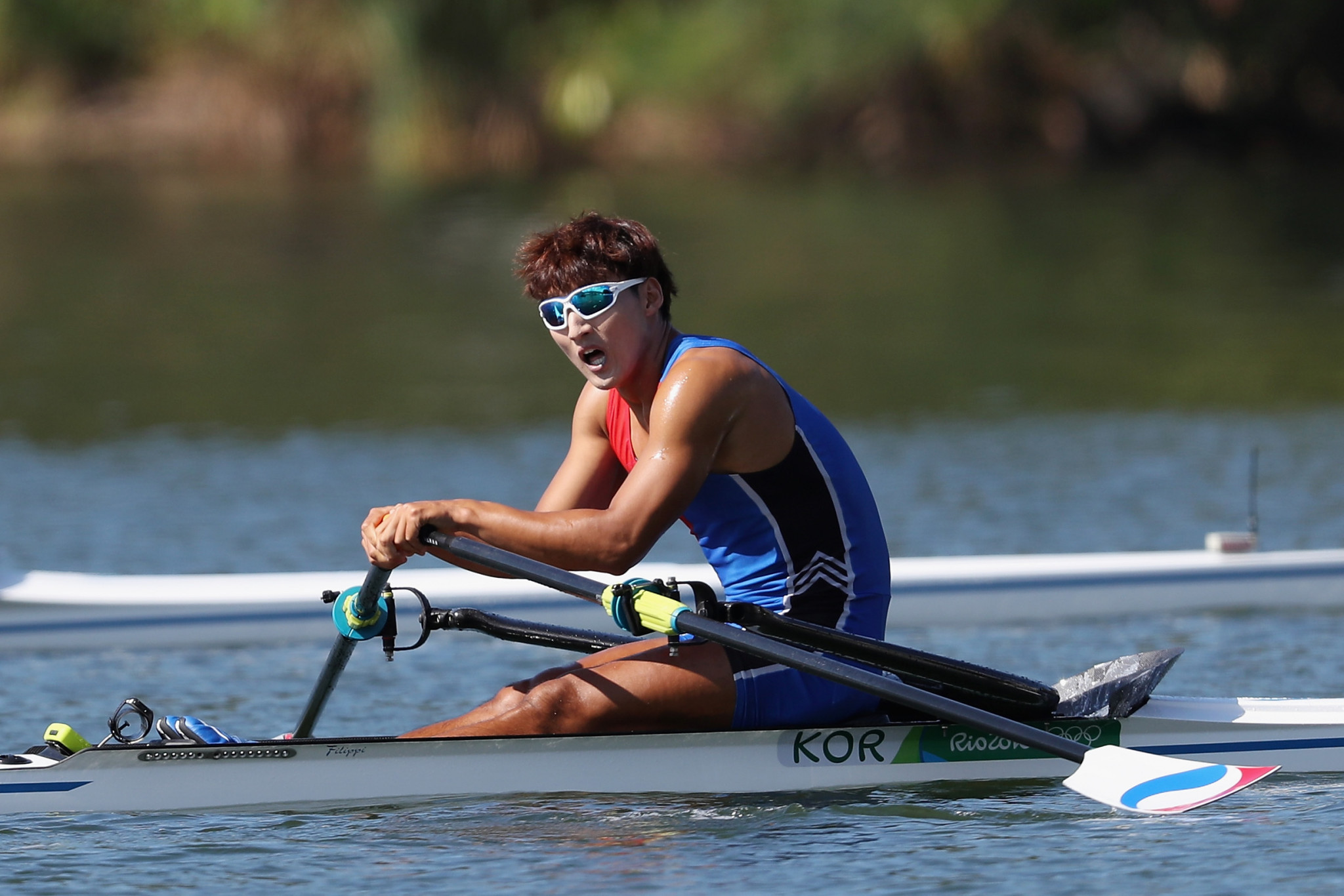 Kim Dong-yong was one of two South Korean rowers at Rio 2016 ©Getty Images