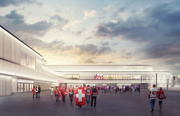 The Centre Sportif de Malley SA encompasses several sports facilities, one of which is a 9,700-capacity ice rink that will be accessible to young athletes ©Atelier Brunecky