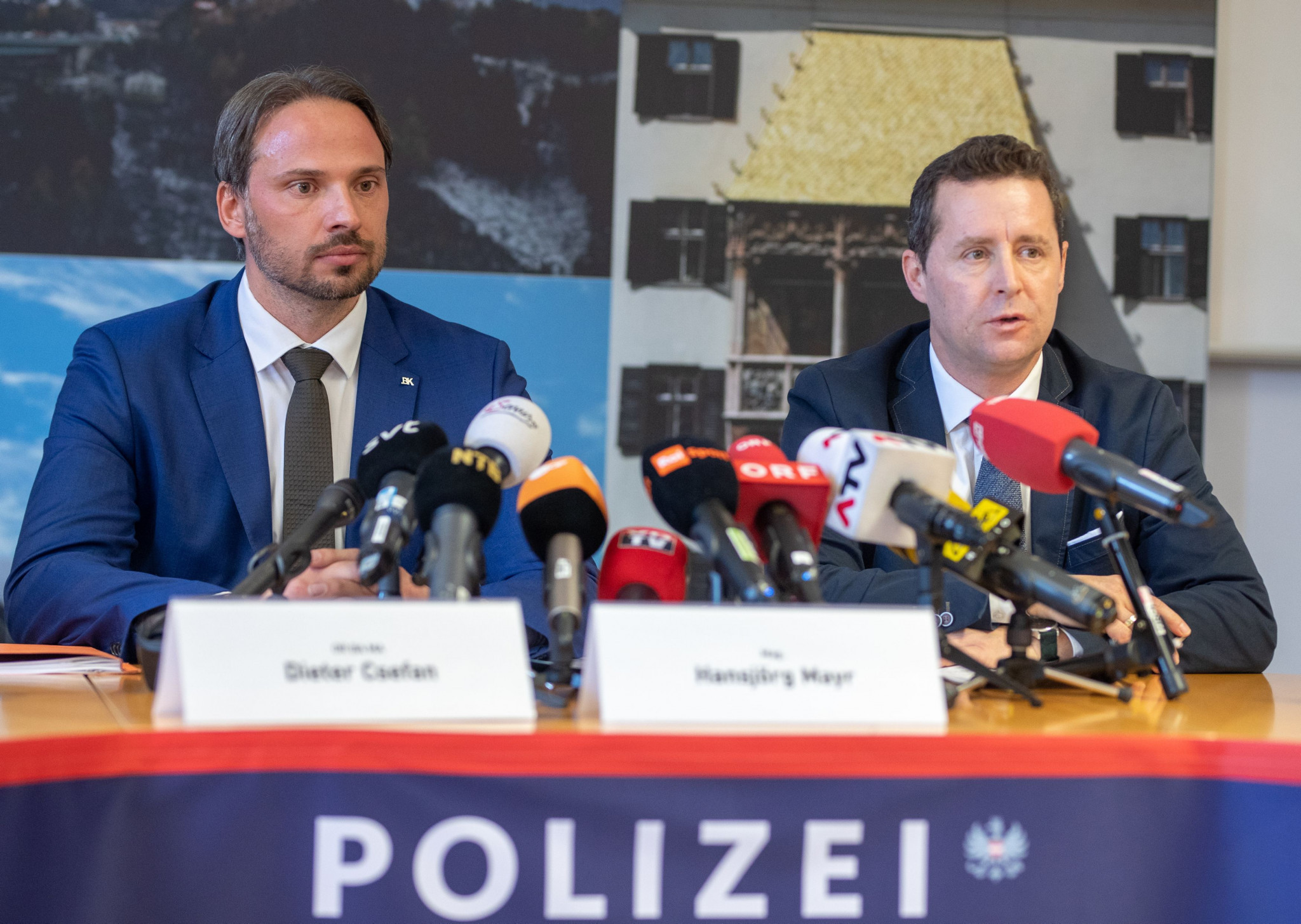 Dieter Csefan, left, said one of the five total athletes arrested had been caught