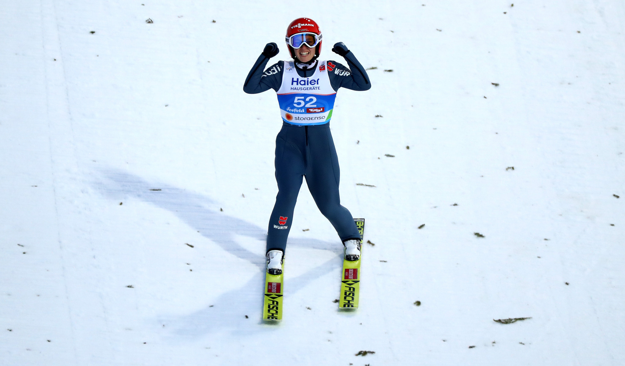 Germany's Katharina Althaus finished second ©Getty Images