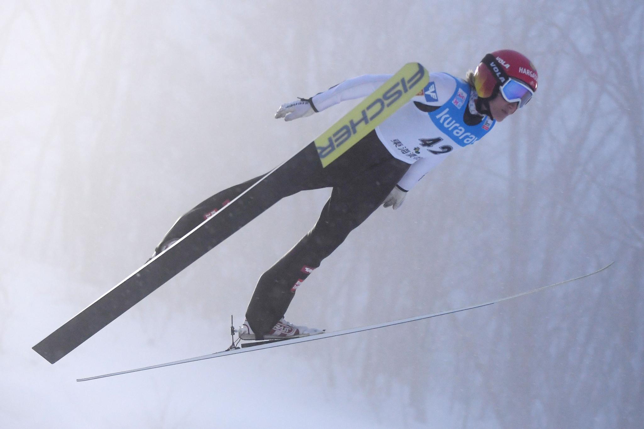Austria's 2011 world champion Daniela Iraschko-Stolz came third ©Getty Images