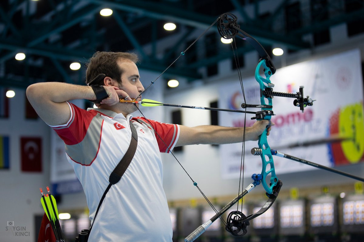 Main draw recurve action begins at European Indoor Archery Championships