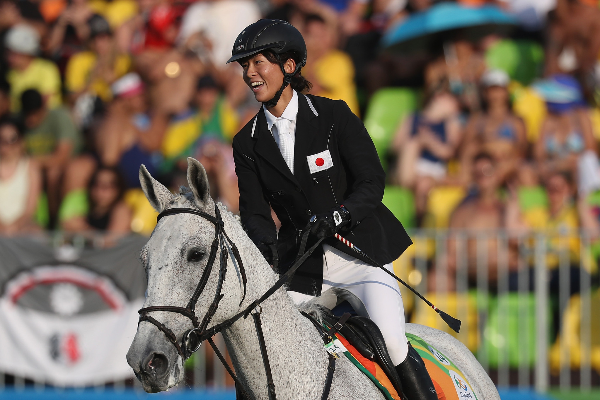 Natsumi Tomonaga was the top qualifier as women's action began at the Modern Pentathlon World Cup in Cairo ©Getty Images