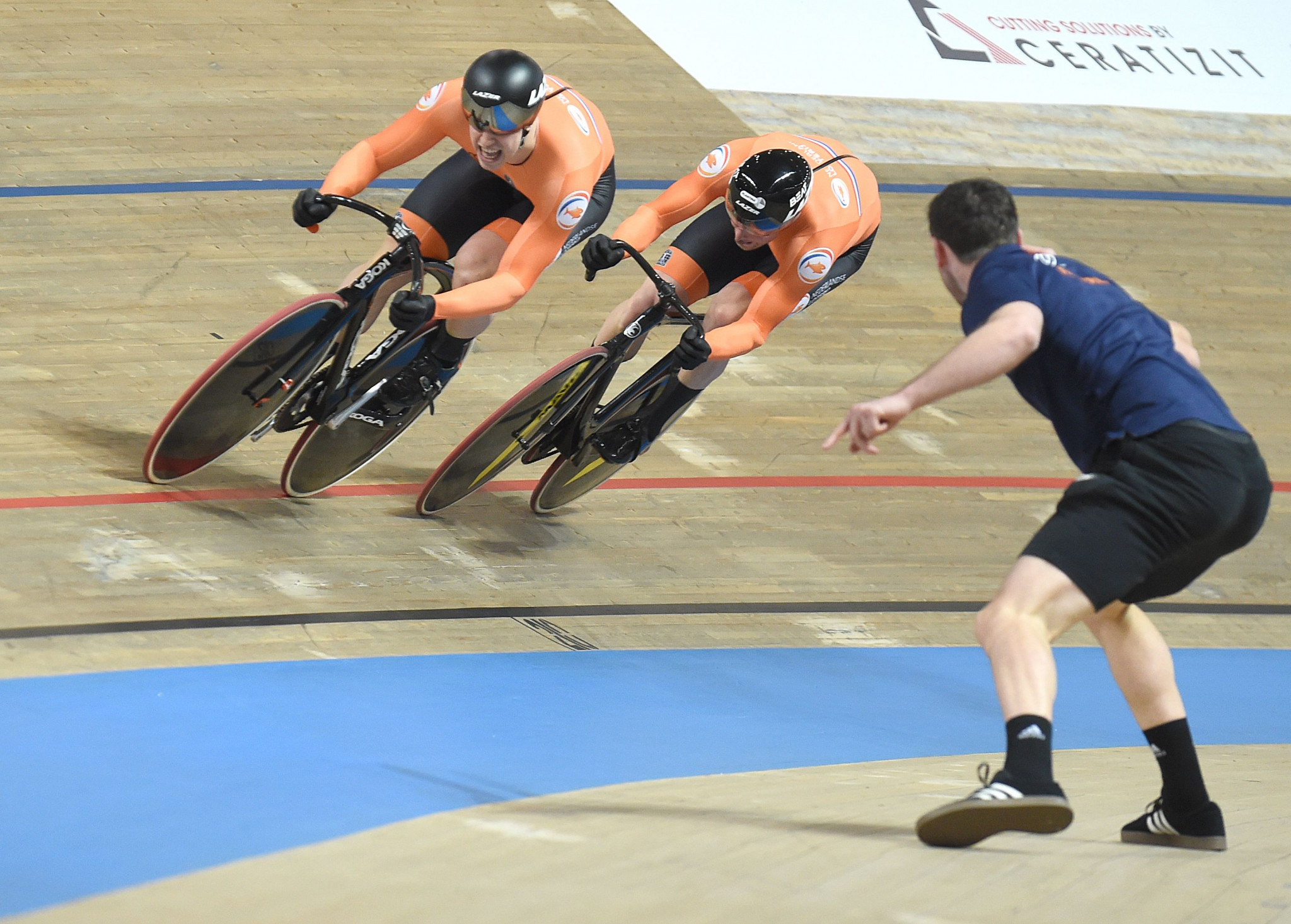 Dutch delight in men's team sprint as UCI World Track Cycling Championships begins