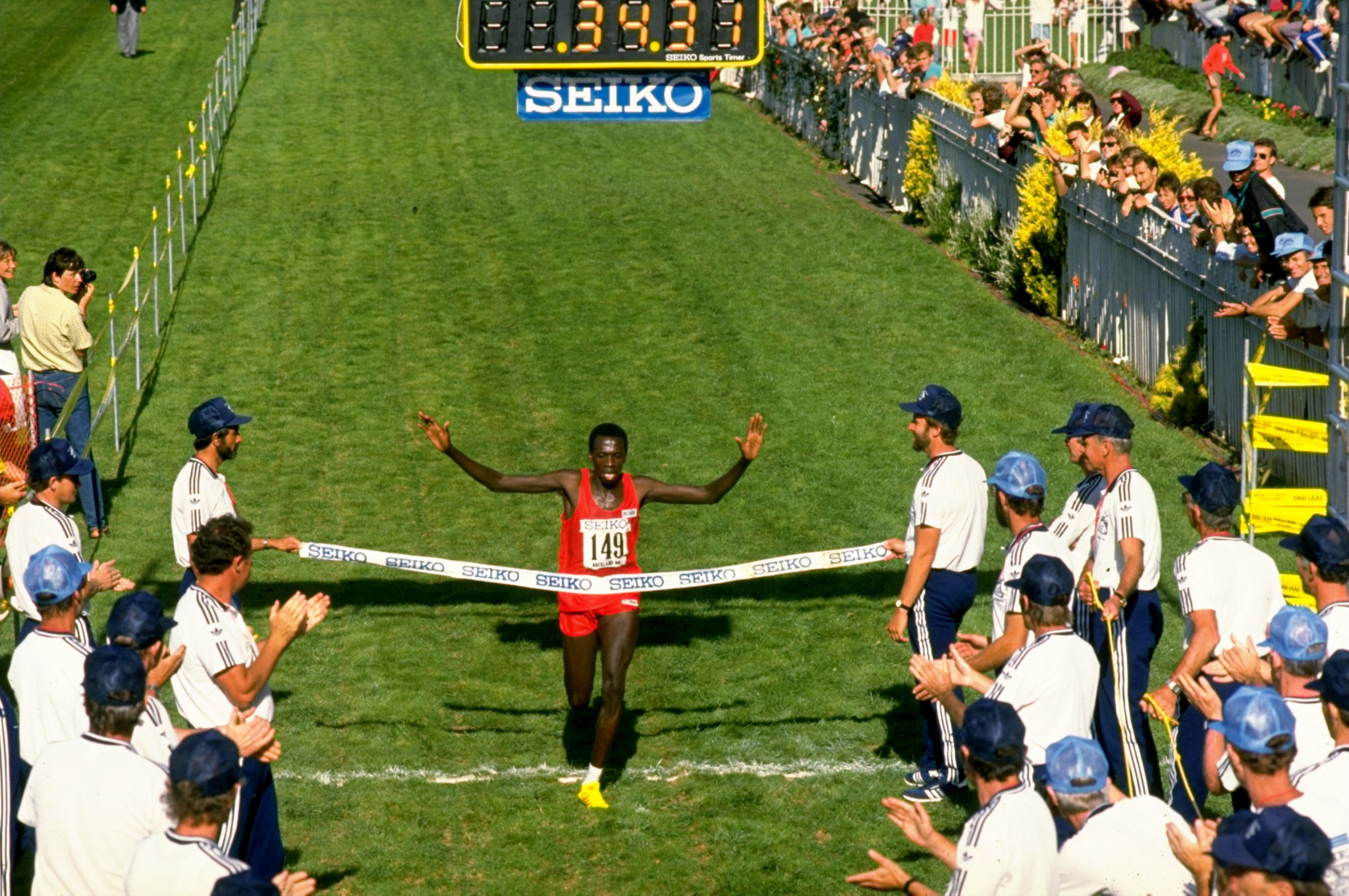 The only other time the IAAF World Cross Country Championships have taken place in Oceania was in Auckland in 1988 when the men's race was won by Kenya's John Ngugi ©Getty Images