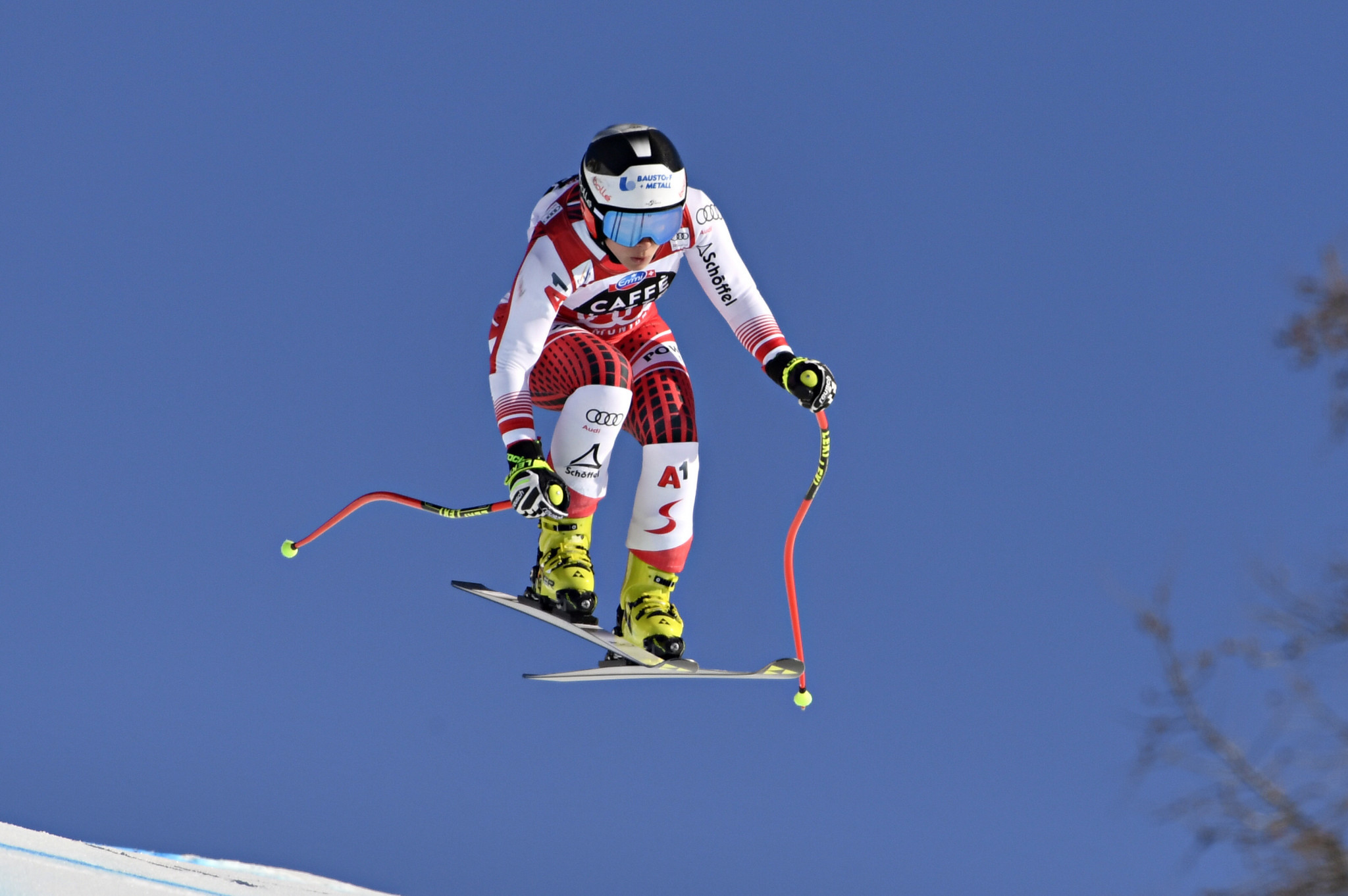 Austria's Nicole Schmidhofer will be looking for another good performance in the women's downhill at the FIS Alpine Skiing World Cup in Rosa Khutor as she seeks to win the title ©Getty Images