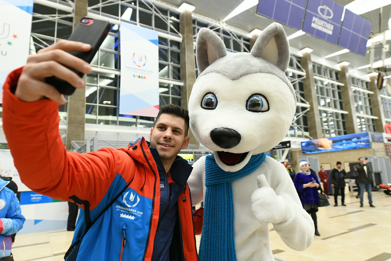 Russian team arrive at Universiade Village for Krasnoyarsk 2019