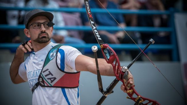 Mandia and Morello to contest all-Italian men's recurve final at European Indoor Archery Championships