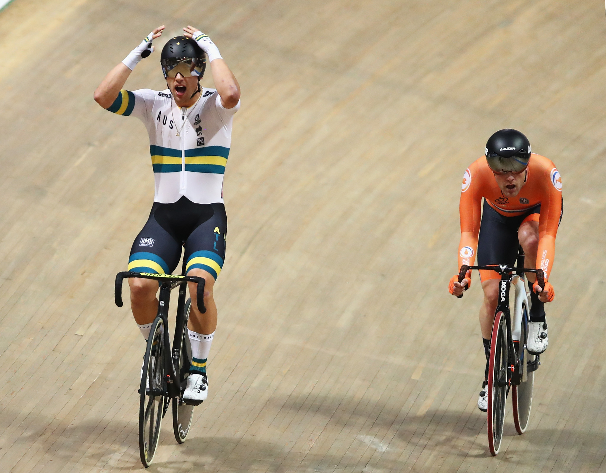 Welsford wins two golds within 30 minutes at UCI Track Cycling World Championships