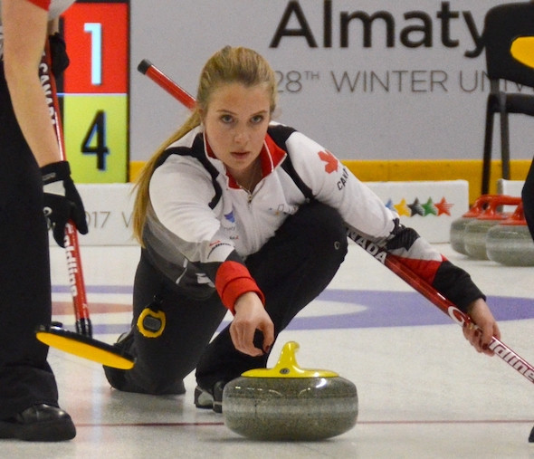 Curler Danielle Schmiemann will be Canada's flag bearer at the Opening Ceremony for the Krasnoyarsk 2019 Winter Universiade ©Curling Canada