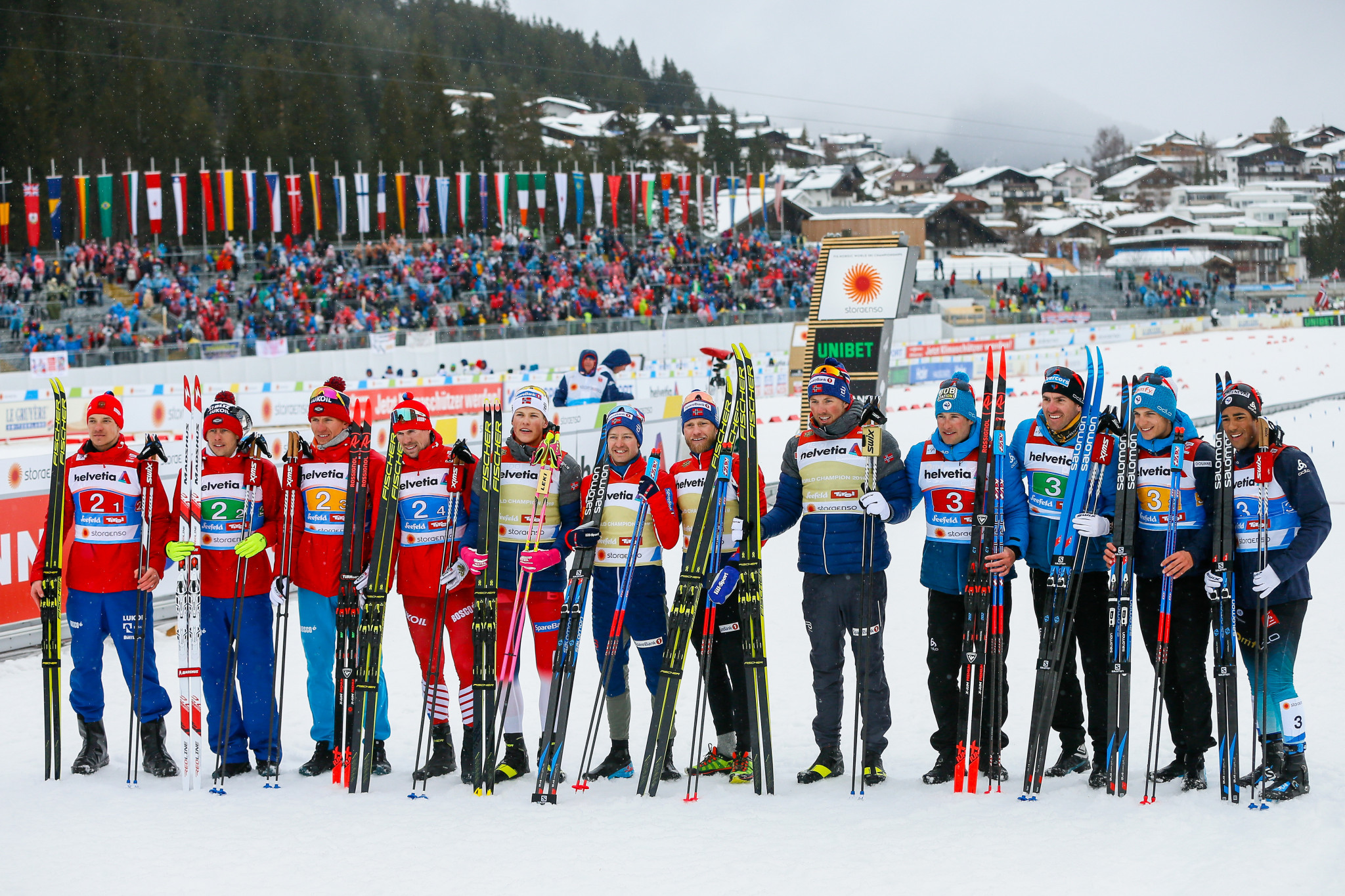 Norway secured their 10th straight cross-country 4x10km men's relay title ©Getty Images