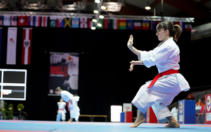 Reigning kata world champion Sandra Sanchez of Spain will take on Japan's Kiyou Shimizu in a repeat of the final at the last two major competitions ©WKF