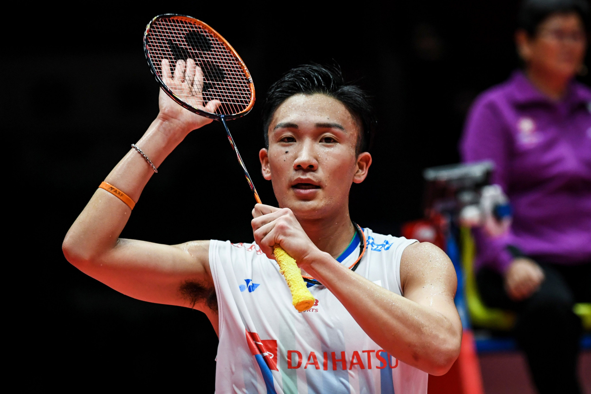 Top seed Kento Momota is through to the men's singles semi-finals at the BWF German Open ©Getty Images