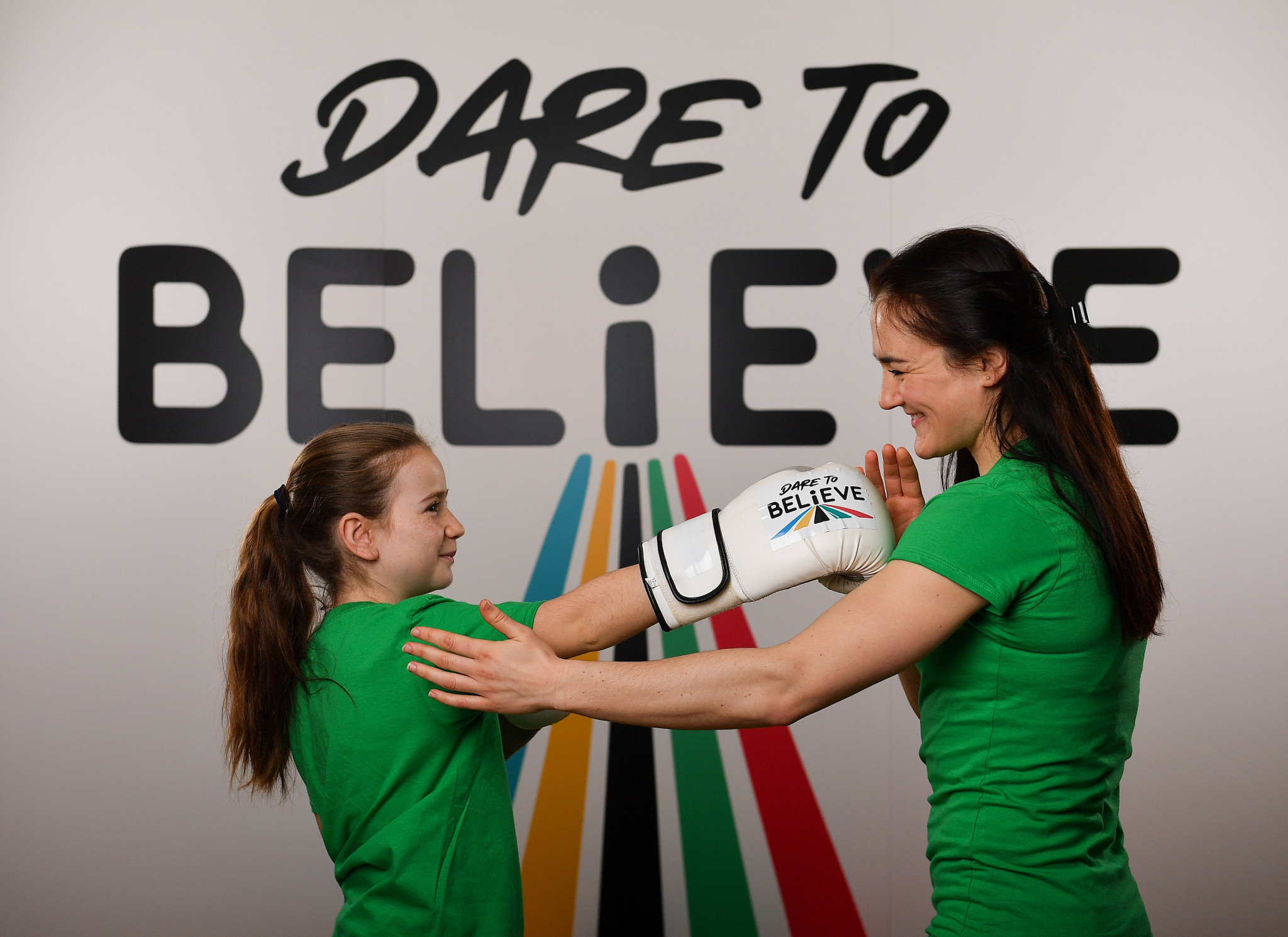 World boxing champion Kellie Harrington was among those involved in the launch of the Olympic Federation of Ireland's new schools initiative